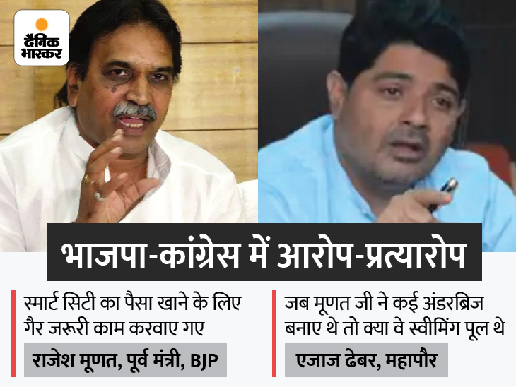 पूर्व मंत्री मूणत बोले- कांग्रेस ने नगर निगम को भ्रष्टाचार का अड्डा बनाया; महापौर का जवाब- 250 करोड़ का स्काइवॉक बना, तब नहीं दिखा करप्शन|रायपुर,Raipur - Dainik Bhaskar