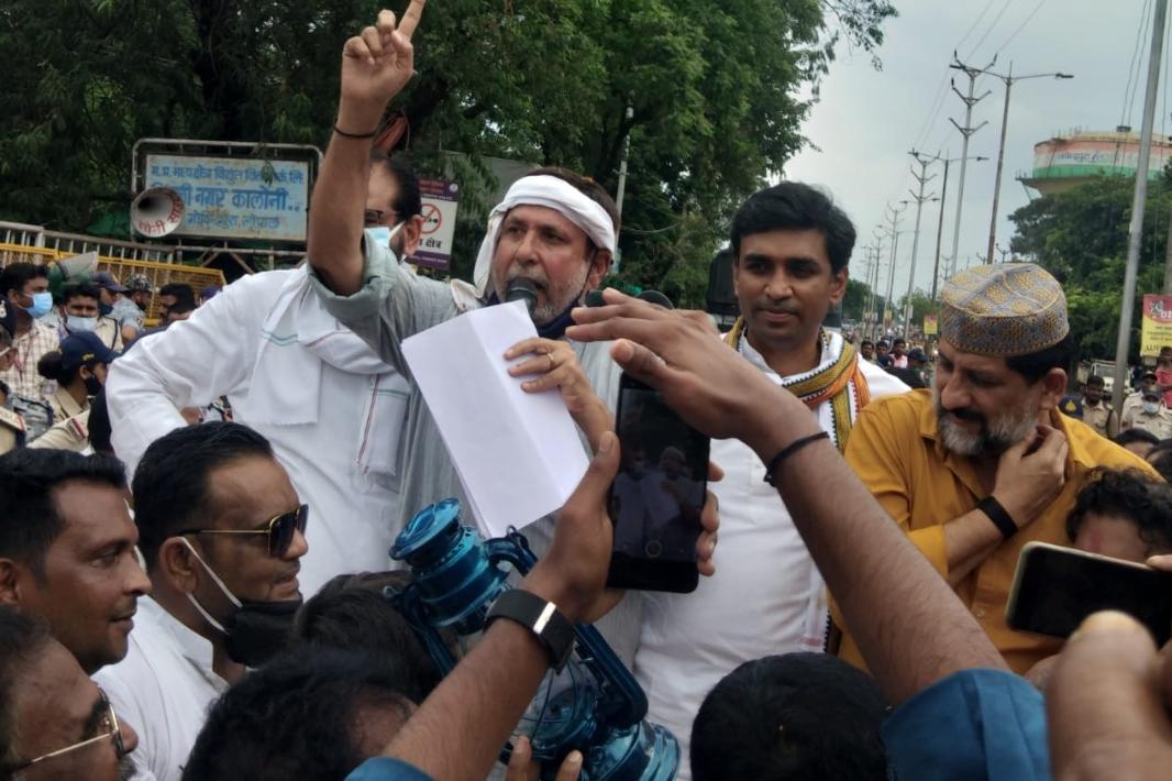 बिजली की अघोषित कटौती और बढ़े बिजली बिलों के खिलाफ कांग्रेस का प्रदर्शन; कांग्रेस नेता बोले- सरकार की मनमानी के खिलाफ लड़ाई जारी रखेंगे|भोपाल,Bhopal - Dainik Bhaskar