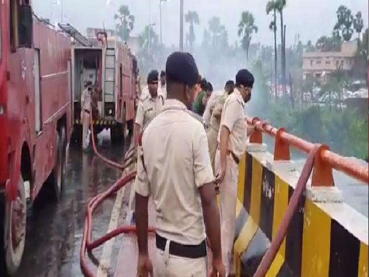 शॉर्ट सर्किट से लगी थी आग, दमकल की 10 गाड़ियों ने काबू पाया; 10 लाख के नुकसान की आशंका|बिहार,Bihar - Dainik Bhaskar