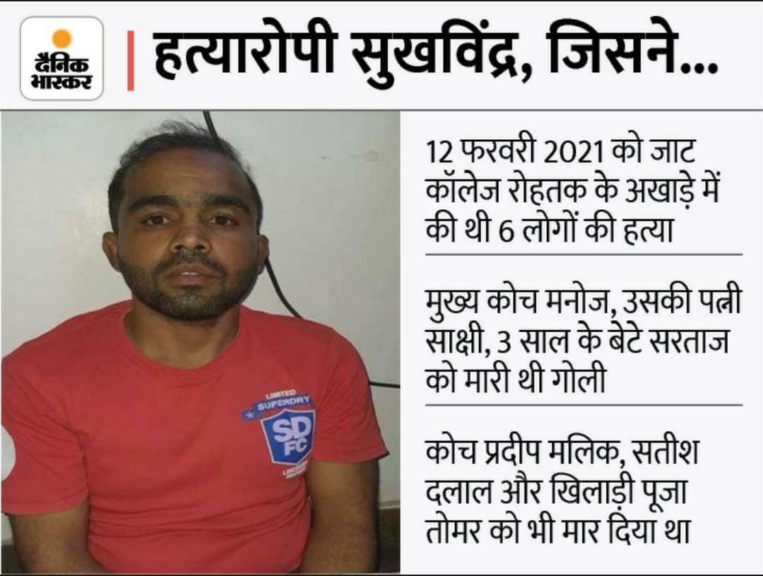 छह हत्याओं का आरोपी सुखविंद्र। - Dainik Bhaskar