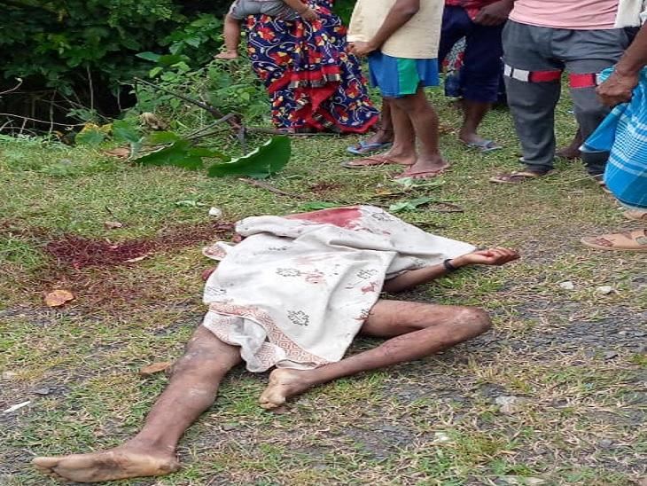 भैरव स्थान थाना के पास कजरा गाछी में गला रेता हुए अज्ञात युवक का मिला शव, नग्न अवस्था में फेंका हुआ था|मधुबनी,Madhubani - Dainik Bhaskar