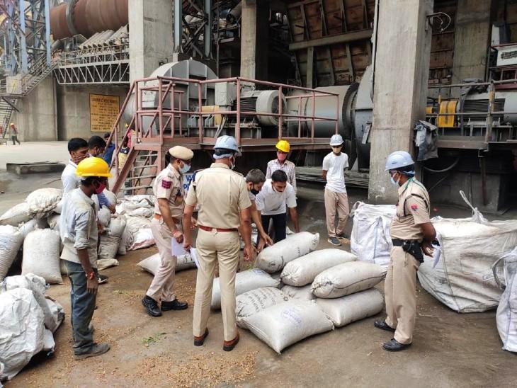 पहली बार सीमेंट फैक्ट्री के बॉयलर में नष्ट हो रही ब्राउन शुगर, गांजा, चरस और डोडा, 18 थानों की पुलिस ने 91 अलग-अलग मामलों में जब्त किया था माल|उदयपुर,Udaipur - Dainik Bhaskar