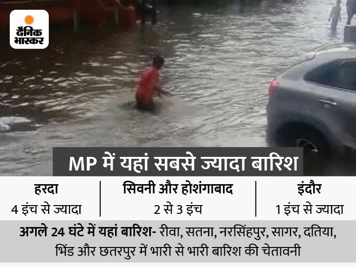 भोपाल में फिर तेज बारिश; 34 जिलों में भारी बारिश का अलर्ट, भोपाल-इंदौर और उज्जैन समेत 10 संभागों में कहीं-कहीं जमकर गिरेगा पानी|मध्य प्रदेश,Madhya Pradesh - Dainik Bhaskar