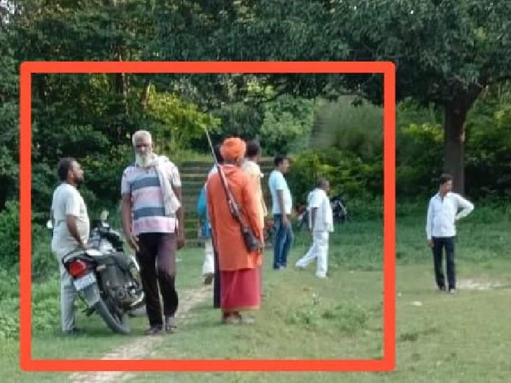 प्राइवेट बंदूक धारी को लेकर पहुंच रहा जमीन की पैमाइश कराने; बिना सूचना दिए पहुंचे, ग्रामीणों में आक्रोश|सुलतानपुर,Sultanpur - Dainik Bhaskar