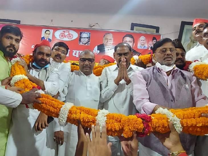 माफियाओं को संरक्षण देती है योगी सरकार,टॉप 10 माफियाओं की लिस्ट क्यों नहीं जारी करती|जौनपुर,Jaunpur - Dainik Bhaskar