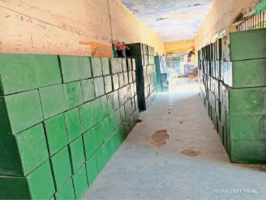 मतदान के लिए पेंट कर रखी गईं मतपेटियां। - Dainik Bhaskar
