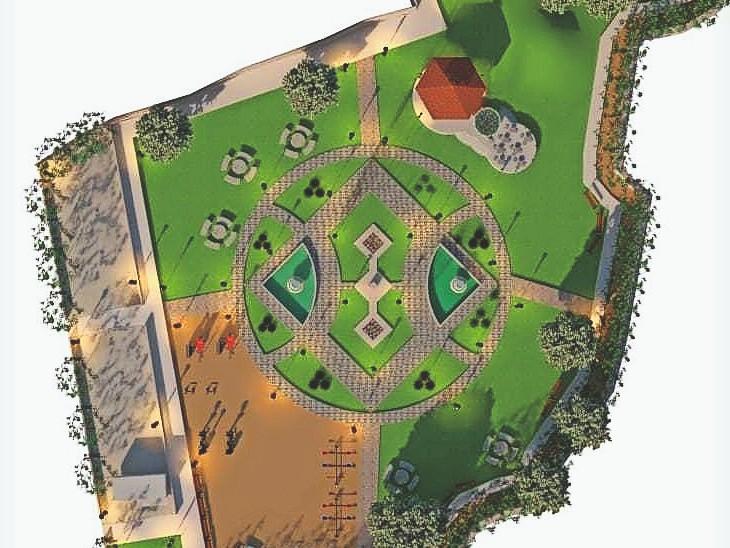 इंदिरा गांधी पार्क : बनने के बाद ऐसा दिखेगा...