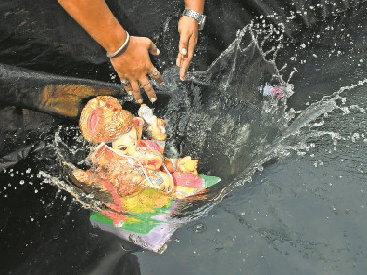 इस बार भी चल समारोह पर रोक खटलापुरा में कुंड में होगा विसर्जन|भोपाल,Bhopal - Dainik Bhaskar