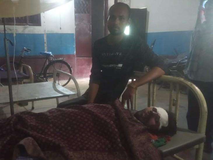 अस्पताल में घायल बाइक सवार। - Dainik Bhaskar