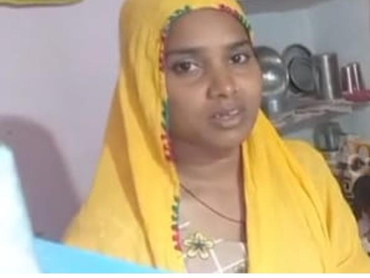 महिला,जिसके घर चोरी हुई। - Dainik Bhaskar