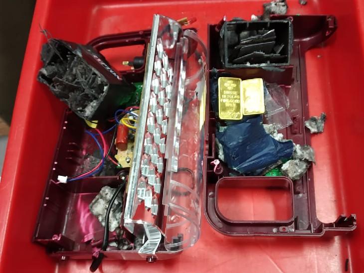 ओमान से इमरजेंसी लाइट बेट्री की में छुपाकर लाया गोल्ड के बिस्किट, कस्टम ने जब्त किया; 5 दिन में दूसरी कार्रवाई|जयपुर,Jaipur - Dainik Bhaskar