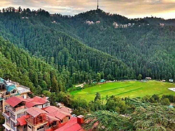 शिमला का अनाडेल मैदान, जो आर्मी के अंडर है, यहां पर राष्ट्रपति कल पहुंचेंगे। - Dainik Bhaskar