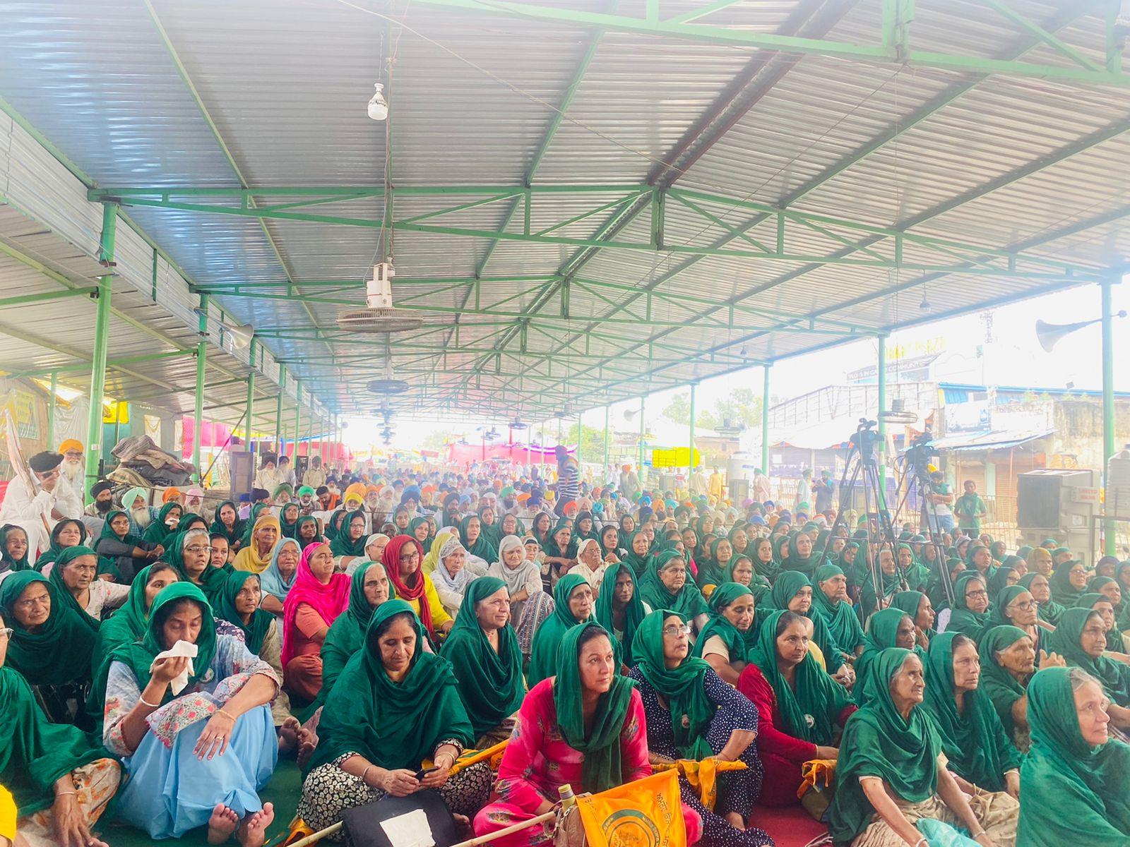 तीन कृषि कानूनों के खिलाफ किसान पिछले साढ़े नौ महीने से सिंघु बॉर्डर पर धरने पर बैठे हैं। इसमें बड़ी संख्या में महिलाएं भी शामिल हैं।