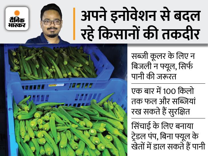 IIT से पढ़े बिहार के विकास ने बिना बिजली-फ्यूल के चलने वाली ऐसी मशीन बनाई, जिसमें पूरे हफ्ते ताजा रहेंगी सब्जियां, कंपनी का टर्नओवर 2 करोड़|DB ओरिजिनल,DB Original - Dainik Bhaskar