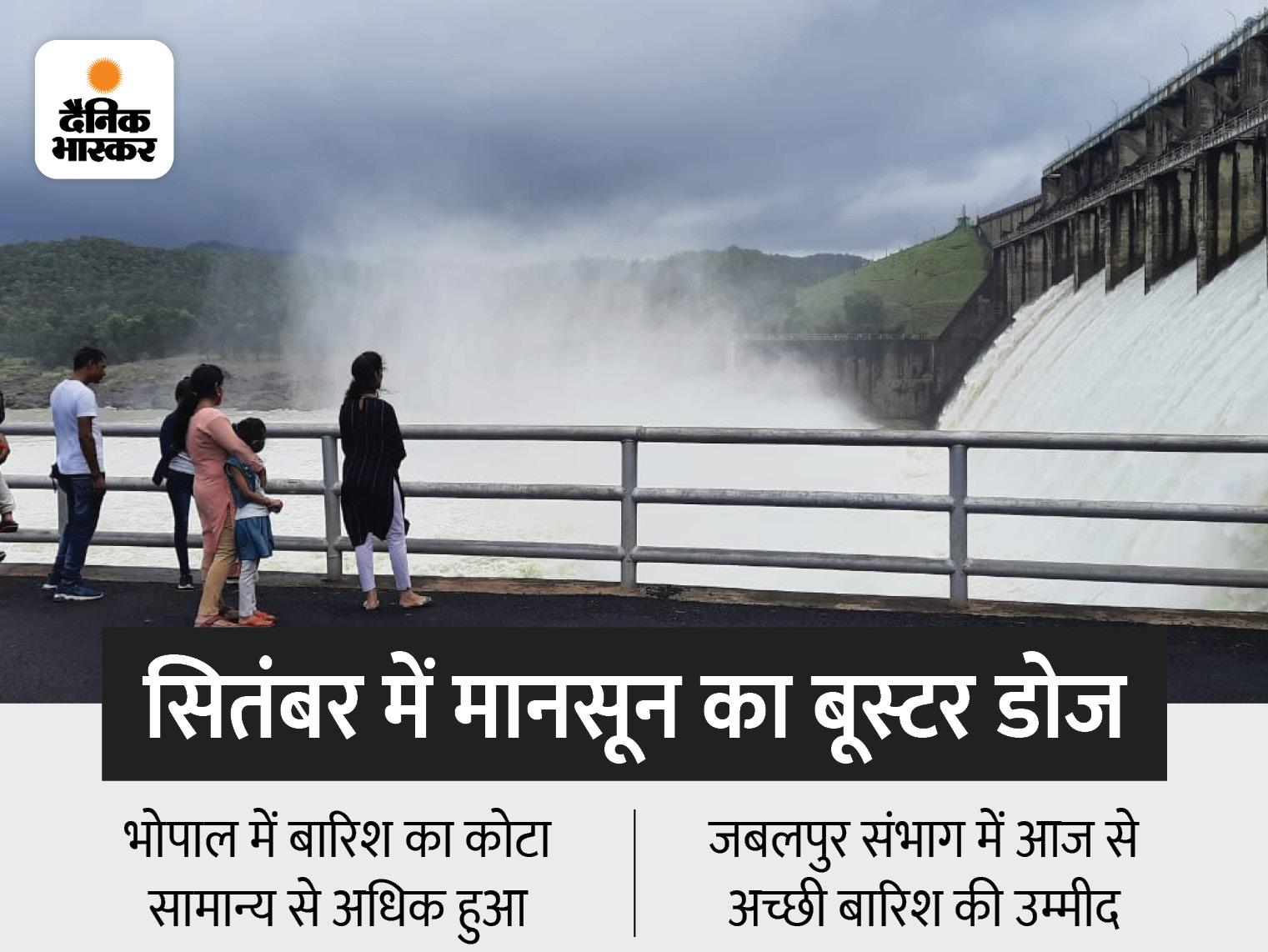 सितंबर के 16 दिन में 5.5 इंच बारिश ने इंदौर समेत 7 जिलों को सूखे से उबारा; जबलपुर सहित 10 जिले बारिश को तरसे|मध्य प्रदेश,Madhya Pradesh - Dainik Bhaskar