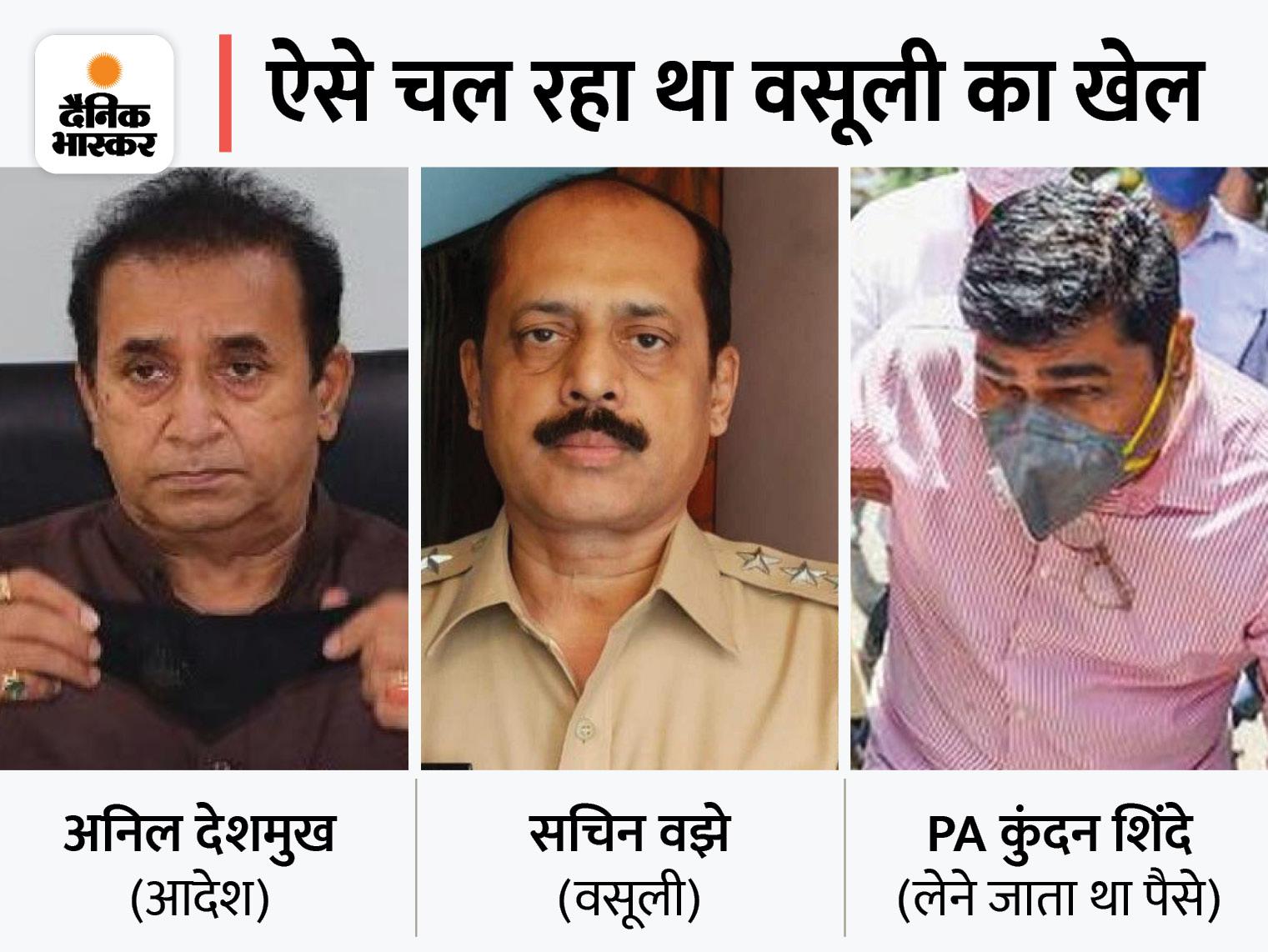 अनिल देशमुख ने सचिन वझे को 16 बैग में 4.6 करोड़ रुपए भरकर उनके PA को देने के लिए कहा था|देश,National - Dainik Bhaskar