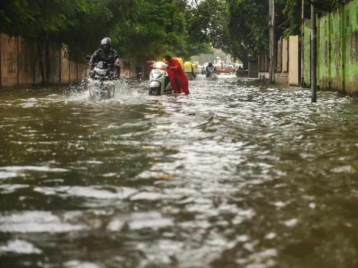 अगले 5 दिन में मध्यप्रदेश, उत्तर प्रदेश, गुजरात और राजस्थान समेत 13 राज्यों में भारी बारिश का अनुमान|देश,National - Dainik Bhaskar
