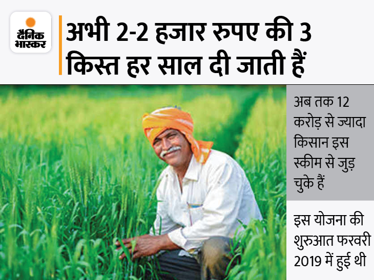 PM किसान योजना के तहत मिलने वाला पैसा हो सकता है दोगुना, 6 की जगह मिल सकते हैं 12 हजार रुपए|बिजनेस,Business - Dainik Bhaskar