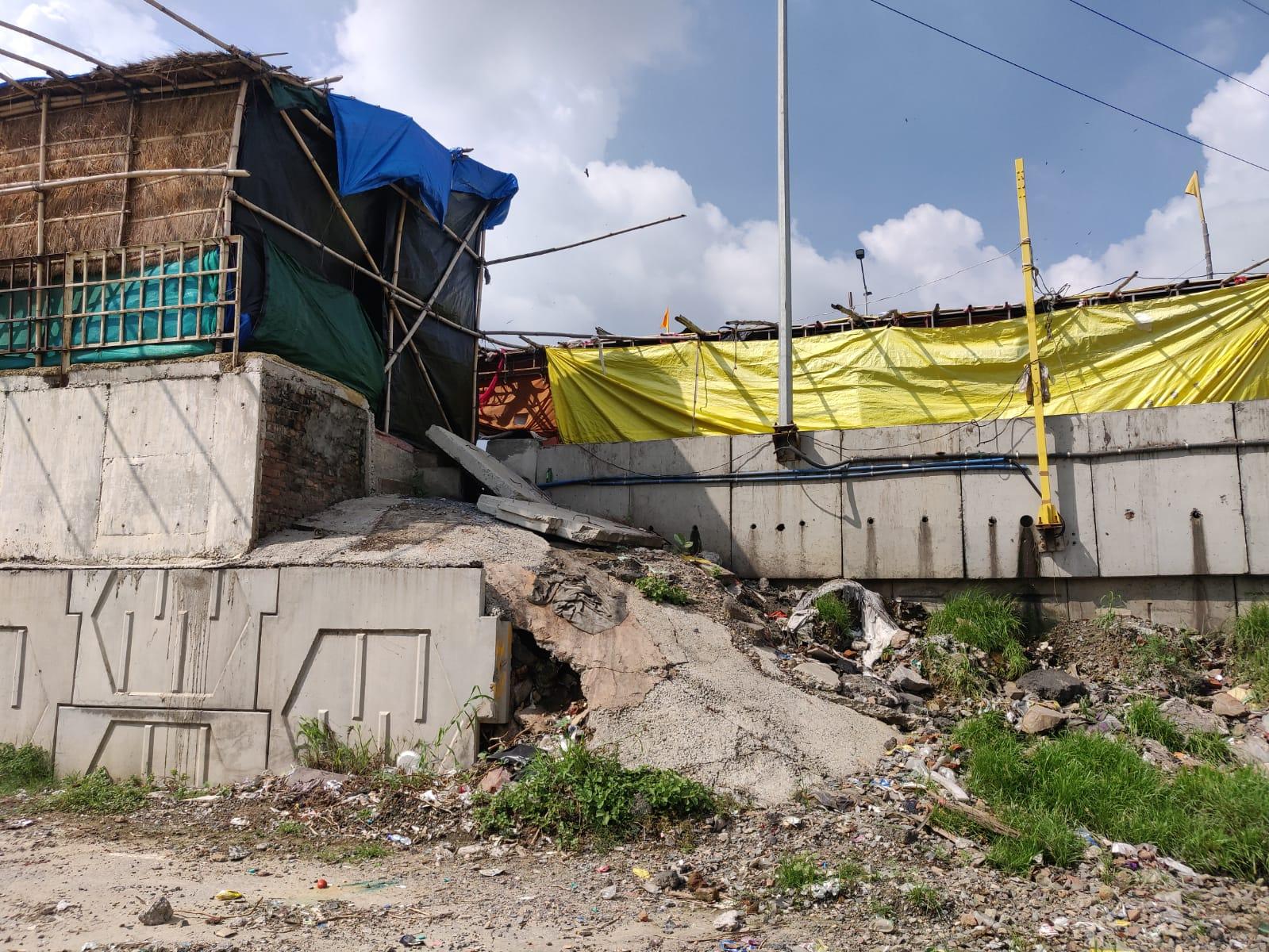 सफाई न होने से दीवारों पर पौधे उगे, चार जगहों पर आई दरार, ड्रेनेज सिस्टम ठप होने से स्ट्रक्चर को खतरा, NHAI ने जताई चिंता|गाजियाबाद,Ghaziabad - Dainik Bhaskar