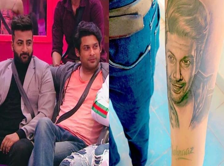 सिद्धार्थ शुक्ला की याद में शहनाज गिल के भाई शहबाज ने हाथ पर बनवाया एक्टर के चेहरे का टैटू, फैन्स बोले, वो हमारे दिलों में हमेशा जिंदा रहेंगे|टीवी,TV - Dainik Bhaskar