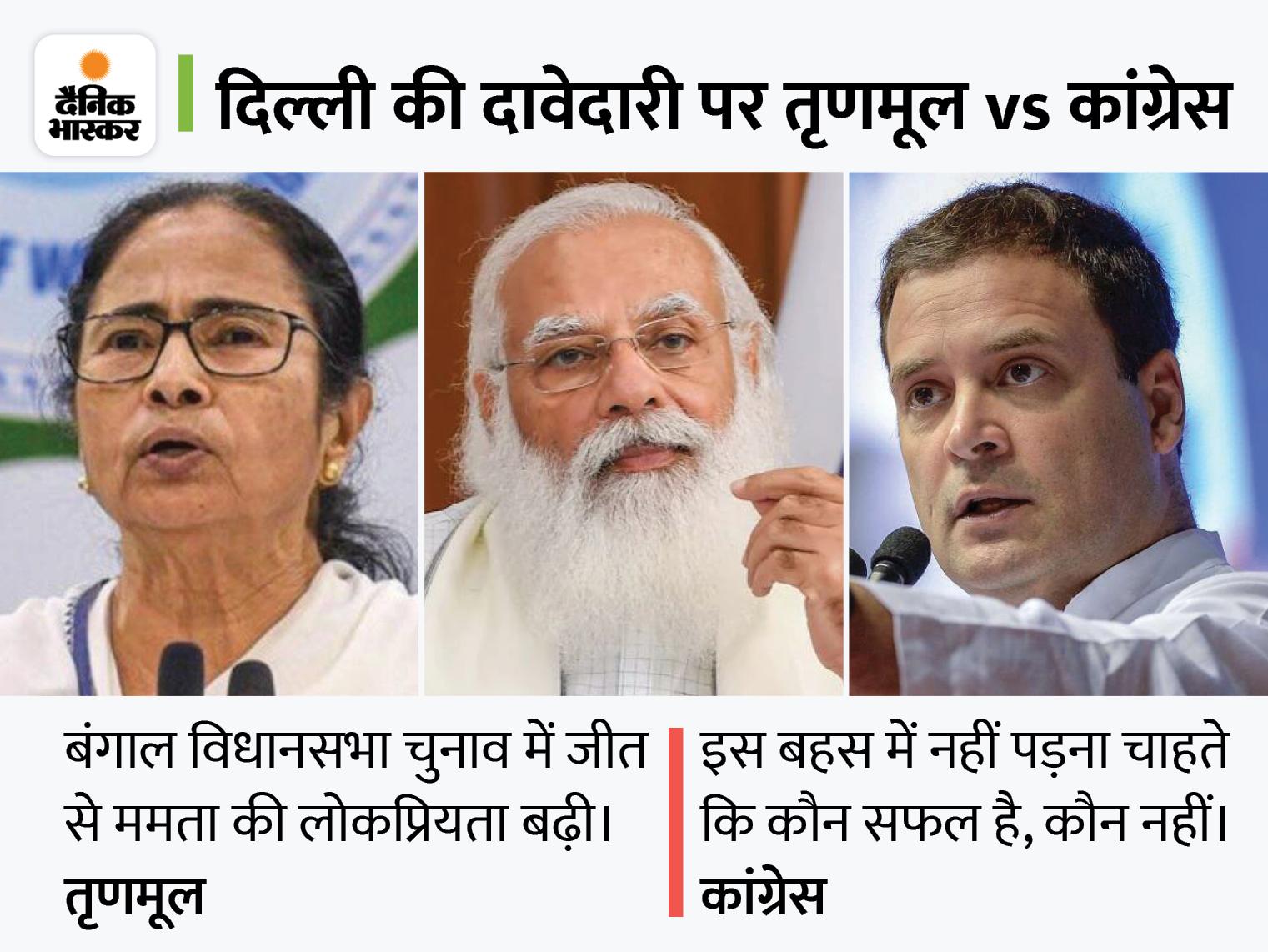 तृणमूल कांग्रेस ने मुखपत्र में दावा ठोका, कहा- राहुल फेल हुए, ममता बनर्जी मोदी से मोर्चा लेने में सफल रहीं|देश,National - Dainik Bhaskar