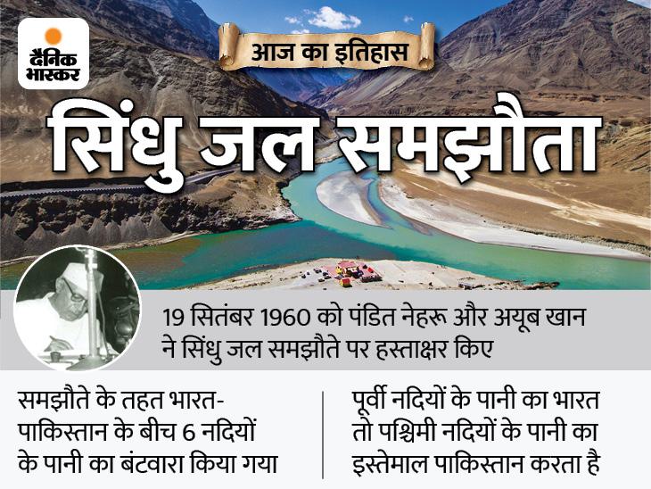 भारत-पाकिस्तान के बीच हुआ था सिंधु जल समझौता; दोनों देशों के बीच कई विवाद हुए, लेकिन ये समझौता 61 साल से नहीं बदला देश,National - Dainik Bhaskar