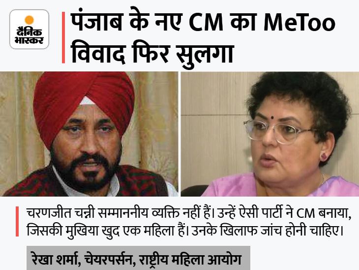 राष्ट्रीय महिला आयोग की चेयरपर्सन रेखा शर्मा ने कहा- चरणजीत चन्नी को हटाएं सोनिया गांधी|जालंधर,Jalandhar - Dainik Bhaskar