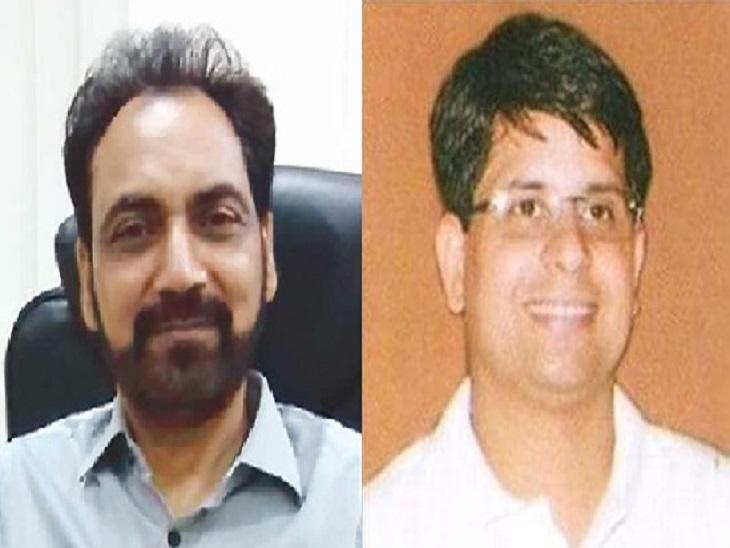 सीनियर IAS हुसन लाल (बाएं) व  IAS राहुल तिवारी। - Dainik Bhaskar