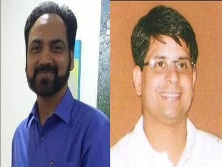 सीनियर IAS हुसन लाल (बाएं) व  आईएएस राहुल तिवारी। - Dainik Bhaskar