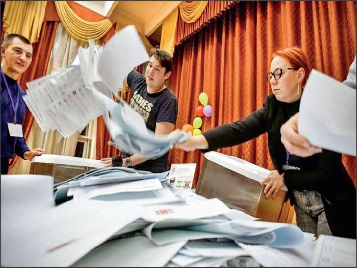 धांधली के बीच पुतिन की पार्टी फिर जीती, इस बार वोटर्स को ई-वोटिंग का विकल्प भी दिया गया विदेश,International - Dainik Bhaskar