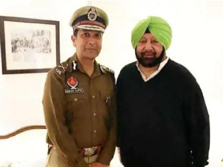 पूर्व CM कैप्टन अमरिंदर सिंह के साथ DGP दिनकर गुप्ता।