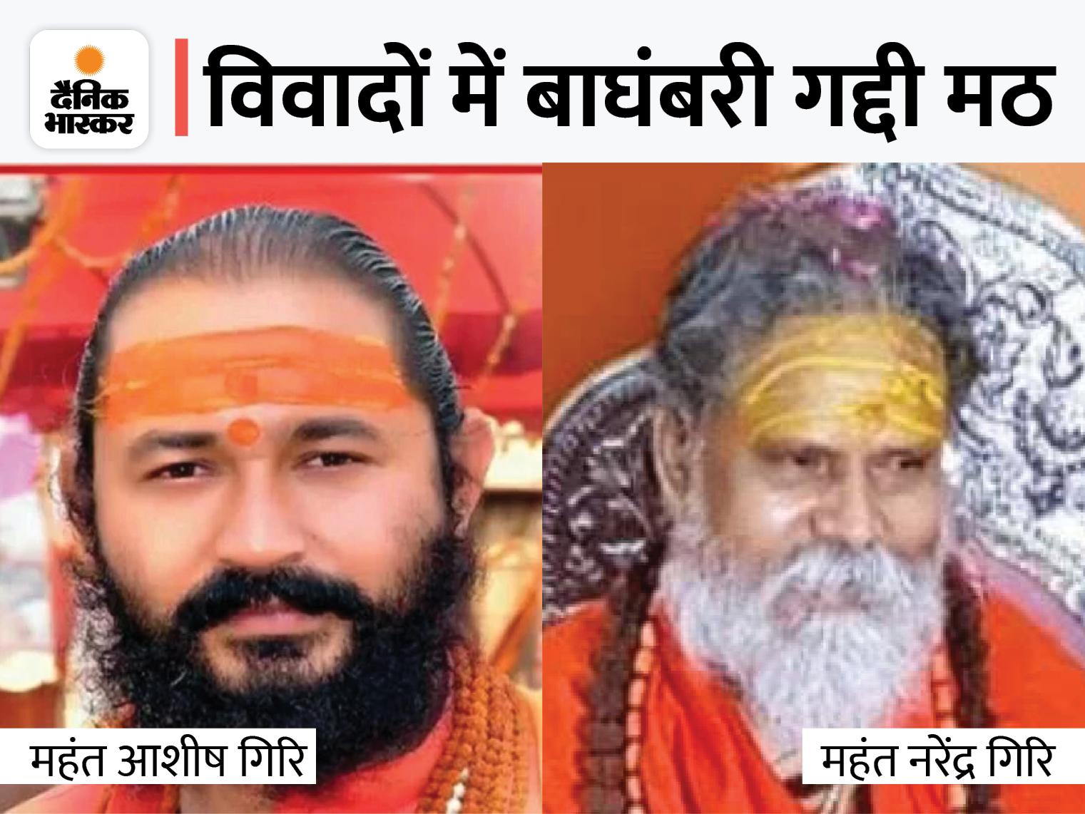 निरंजनी अखाड़े के सचिव आशीष गिरि की भी संदिग्ध परिस्थितियों में हुई थी मौत, आनंद गिरि ने इसे हत्या करार दिया था प्रयागराज (इलाहाबाद),Prayagraj (Allahabad) - Dainik Bhaskar