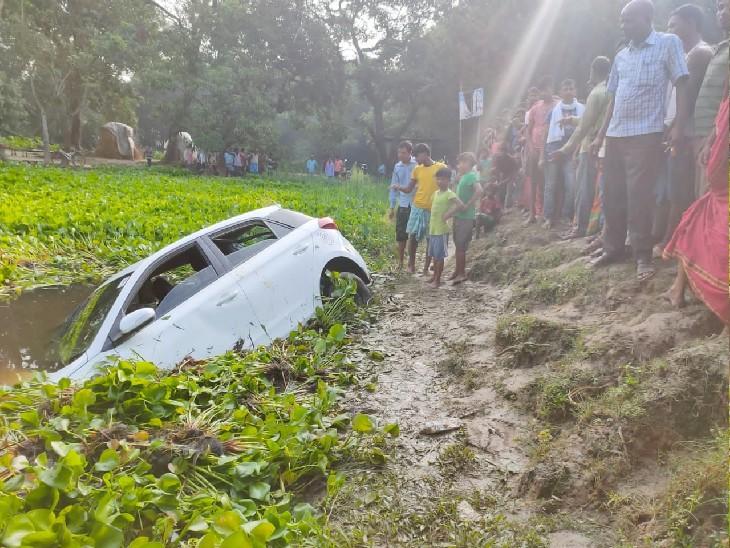 अनंत चतुर्दशी का मेला देखकर लौट रहे थे 6 लोग, शार्प टर्निंग पर अनियंत्रित हो गई कार बिहार,Bihar - Dainik Bhaskar