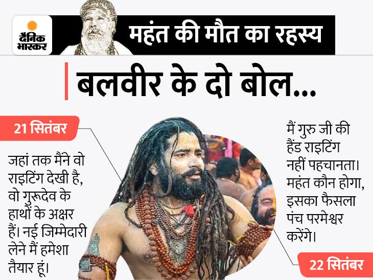 शिष्य बलवीर बयान से पलटे, कहा- गुरुजी की राइटिंग नहीं पहचानता; एक दिन पहले की थी पुष्टि प्रयागराज (इलाहाबाद),Prayagraj (Allahabad) - Dainik Bhaskar