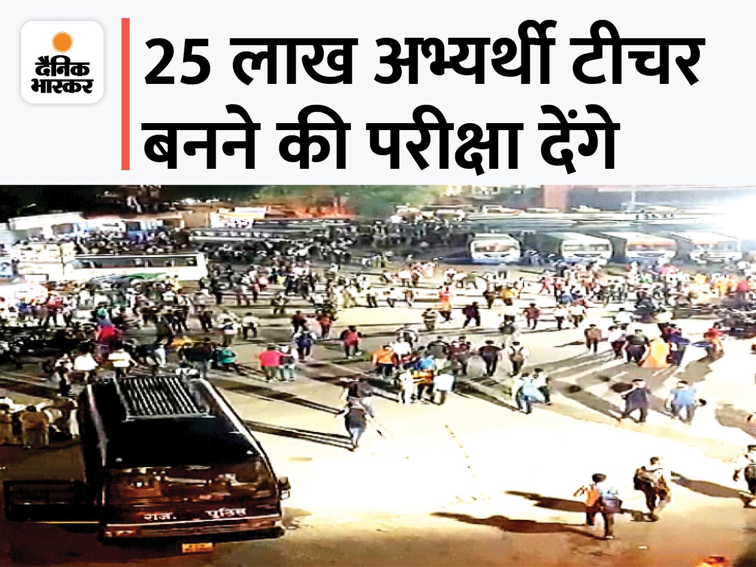 जयपुर में मुख्य सचिव ने कहा- परीक्षा सफल करवाना कलेक्टर-एसपी की जिम्मेदारी; पेपर लीक की आशंका से अलर्ट पर है SOG|REET 2021,REET 2021 - Dainik Bhaskar