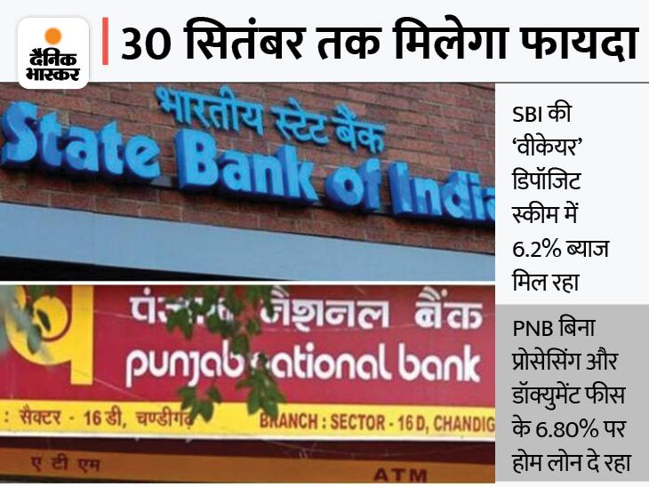 PNB की खास होम लोन स्कीम और SBI की 'वीकेयर' डिपॉजिट स्कीम इस महीने हो रही खत्म, यहां जानें इसमें कितना फायदा बिजनेस,Business - Dainik Bhaskar