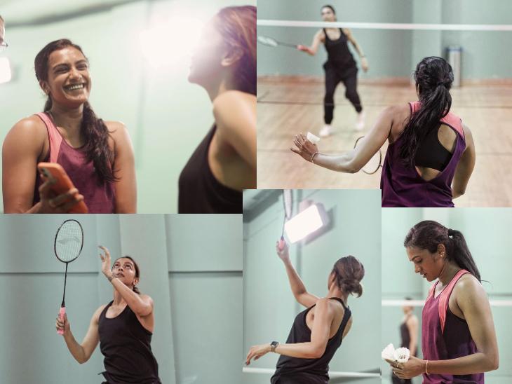 दीपिका पादुकोण ने स्टार प्लेयर पीवी सिंधु के साथ खेला बैडमिंटन, फैंस बोले-बायोपिक बनने वाली है बॉलीवुड,Bollywood - Dainik Bhaskar
