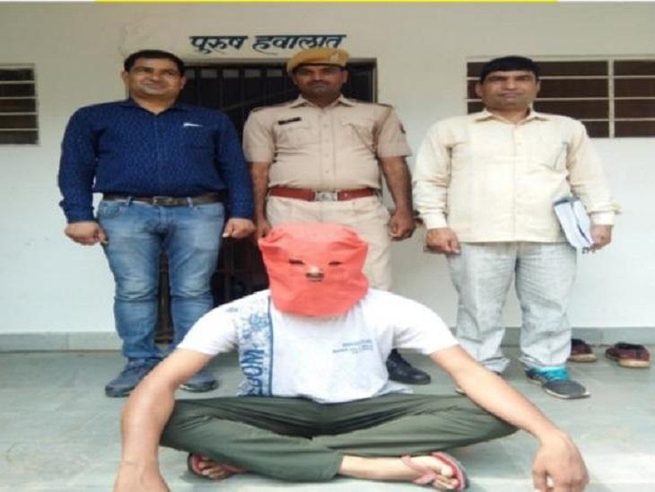 फायरिंग कर डेढ़ लाख रुपए लूटने का मामले में चल रहा था फरार,मामले में पूर्व में 5 पांच लोगों को पहले ही किया जा चुका है गिरफ्तार|राजस्थान,Rajasthan - Dainik Bhaskar