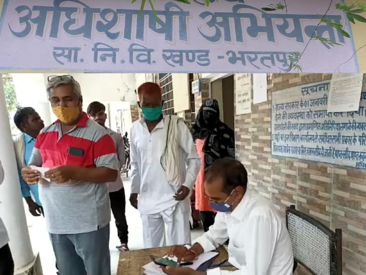 PWD ने कर्मचारी की मौत के बाद न तो डिपेंडेंट को दी नौकरी और न ही दिया फंड का पैसा, आदेश का पालन नहीं करने पर कोर्ट ने ऑफिस किया नीलाम भरतपुर,Bharatpur - Dainik Bhaskar
