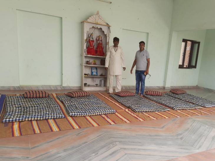 पाली में वैष्णव समाज की ओर से धर्मशाला में की गई ठहरने की व्यवस्था।