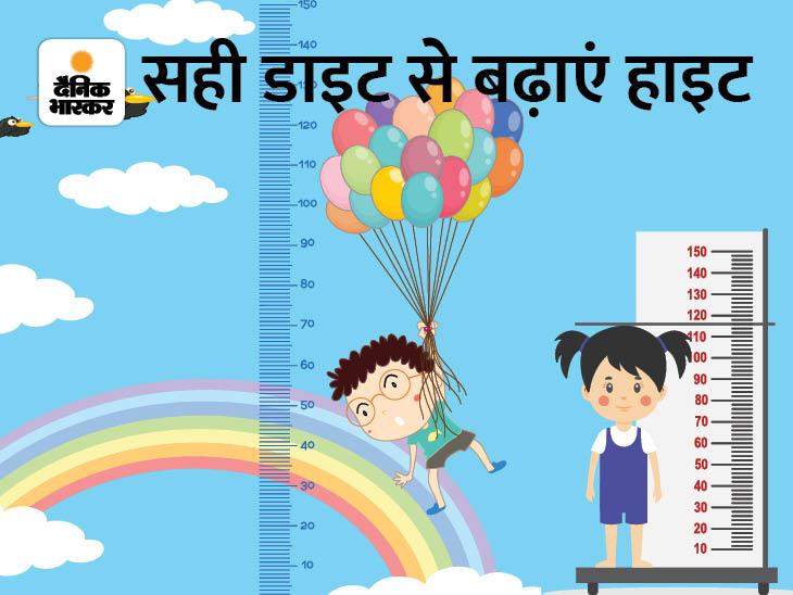 बच्चे की हाइटवैसे नहीं बढ़ रही जैसे बढ़नी चाहिए, तो उसे दें ये डाइट|हेल्थ एंड फिटनेस,Health & Fitness - Dainik Bhaskar