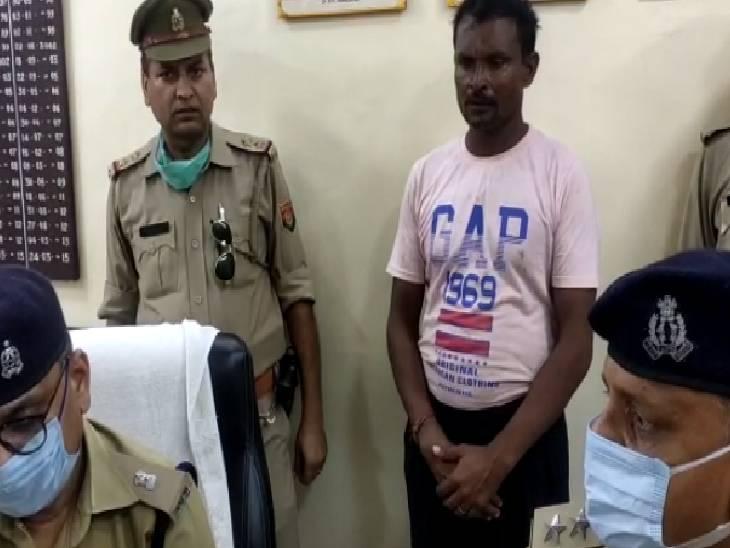 बीड़ी पीने के बहाने घर से ले गया था बाहर, सिर पर पत्थर मारकर की हत्या, पुलिस ने किया गिरफ्तार|फिरोजाबाद,Firozabad - Dainik Bhaskar