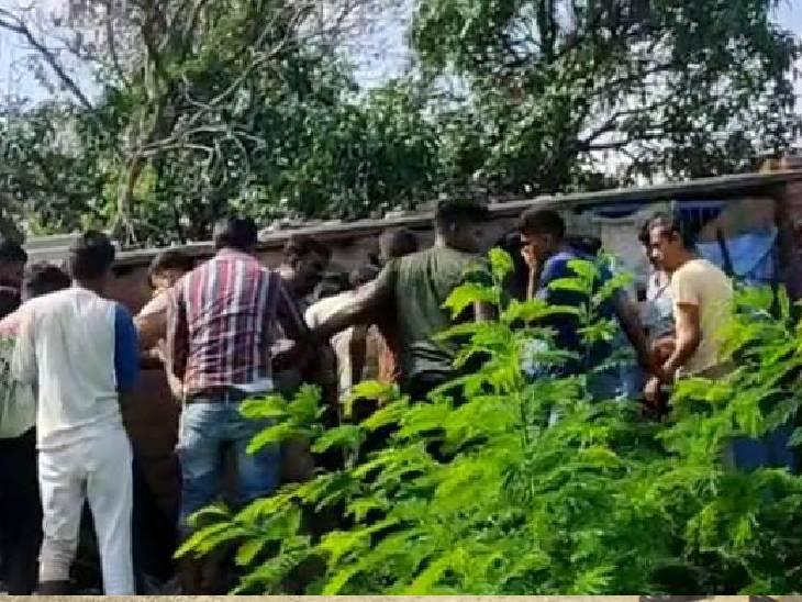 दुकानदार को गोली मारकर भाग रहा था हत्यारोपी, भीड़ ने पीट-पीटकर मार डाला मिर्जापुर,Mirzapur - Dainik Bhaskar