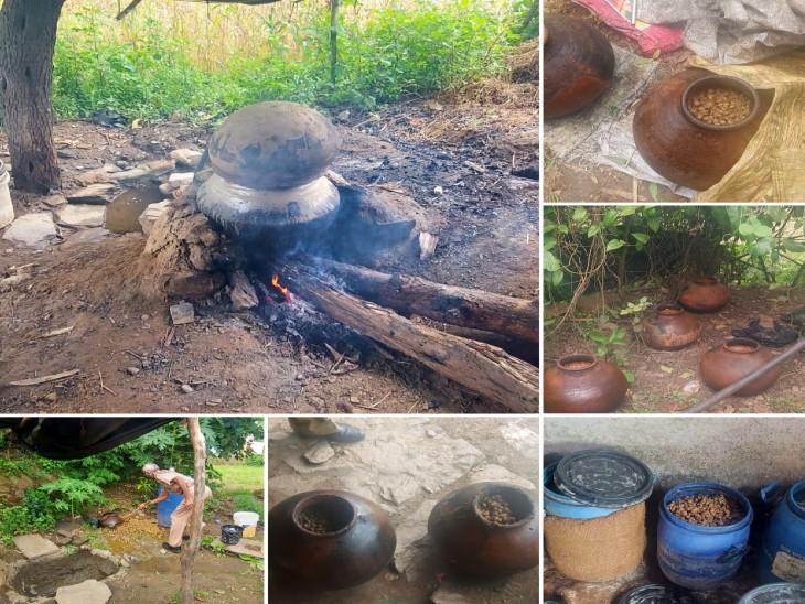 खेरवाड़ा में 1 हजार लीटर वॉश किया नष्ट, 1000 हजार हथकढ़ शराब भी की जब्त|राजस्थान,Rajasthan - Dainik Bhaskar