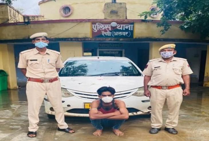 8 महीने बाद अपहरण में काम ली कार सहित एक आरोपी को पुलिस ने गिरफ्तार किया अलवर,Alwar - Dainik Bhaskar