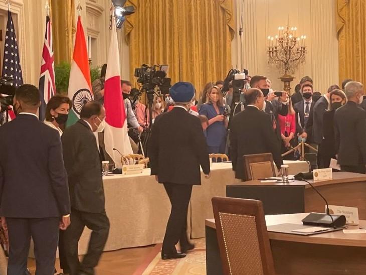 QUAD बैठक में शामिल होने के लिए जाता भारतीय डेलिगेशन।