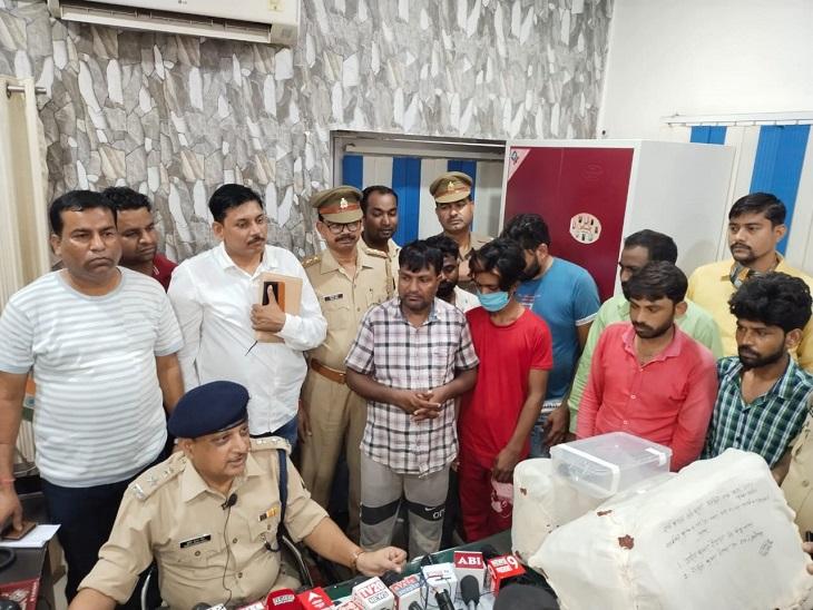 बदमाशों के कब्जे से 80 लाख कीमत की 6 डीजी मशीन बरामद, रिलायंस की ड्रिल मशीन लूटने का आरोप|आजमगढ़,Azamgarh - Dainik Bhaskar
