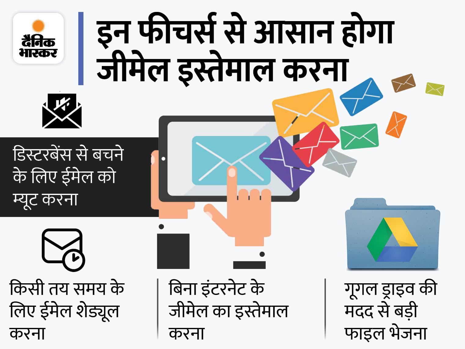 बिना इंटरनेट के भी कर सकते हैं जीमेल का इस्तेमाल, जानिए इससे जुडे़ ऐसे ही 10 फीचर्स के बारे में टेक & ऑटो,Tech & Auto - Dainik Bhaskar