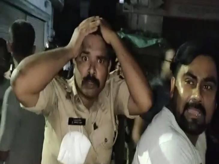 हादसे में 3 पुलिसकर्मी हुए घायल, 3 घंटे बाद युवक हो पाया गिरफ्तार|बहराइच,Bahraich - Dainik Bhaskar