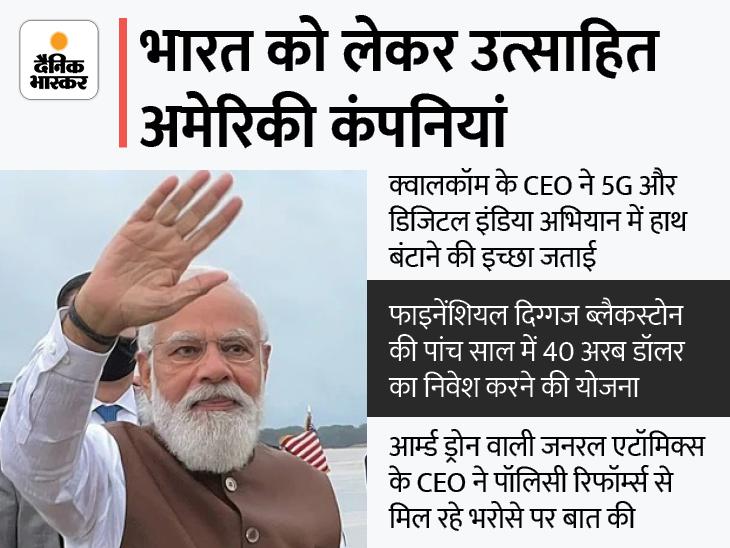 5G और डिफेंस से लेकर डिजिटल इंडिया तक कई मुद्दों पर चर्चा, भारत में 40 बिलियन डॉलर निवेश करेगी ब्लैकस्टोन|मार्केट,Market - Dainik Bhaskar